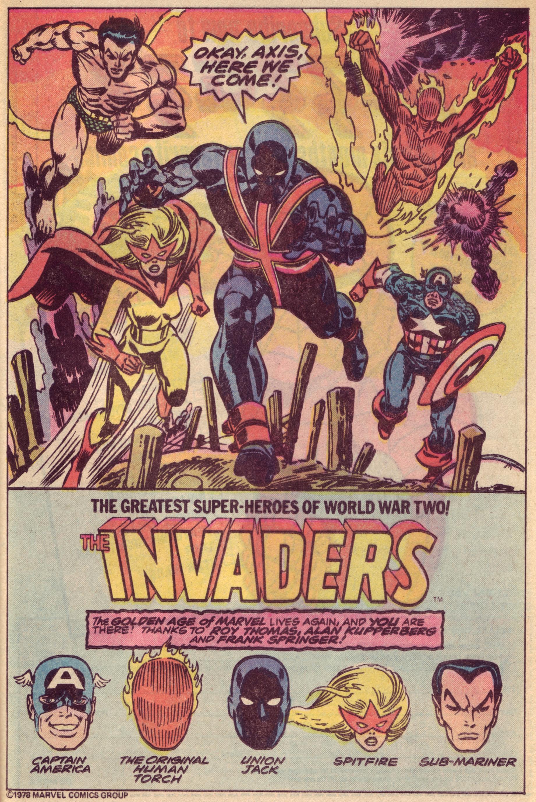 Invaders (Team) - Comic Vine